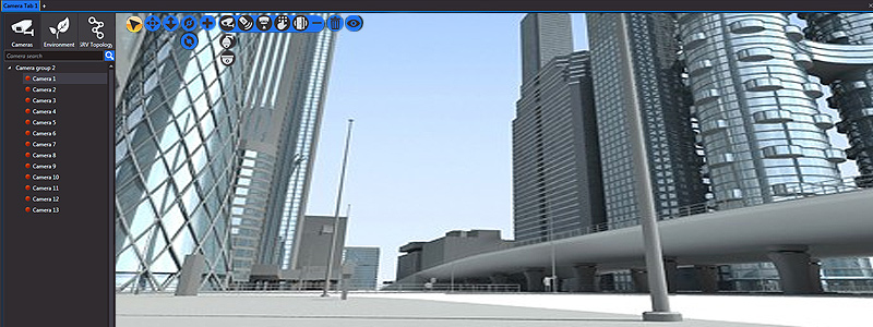 nupsys, nusim, 3d visualization of video surveillance, alarm, fire detector for public safety