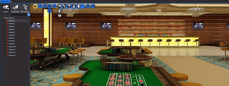 nupsys, nusim, 3d visualization, casino security, surveillance and gambling facilities